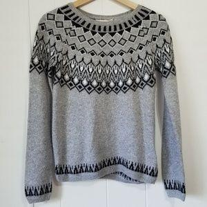 H&M | Gray and Black Sweater SZ XS